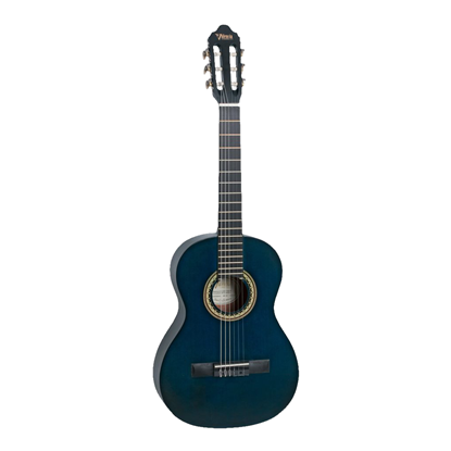 Valencia 200 Series ½ Classical Guitar - Transparent Blue - Front