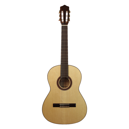 Kremona Flamenco Rosa Bella Classical Guitar with Hard Case - All Solid European Spruce and Bulgaria - Front