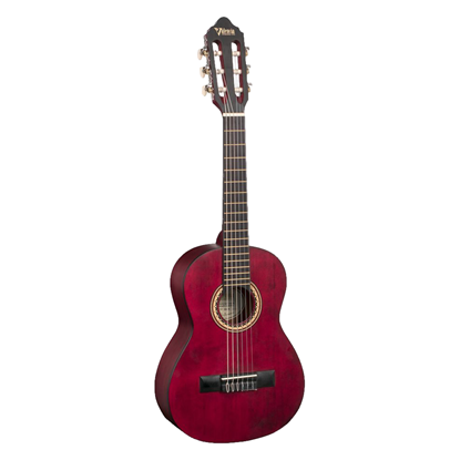 Valencia 200 Series ½ Classical Guitar - Transparent Wine Red - Front