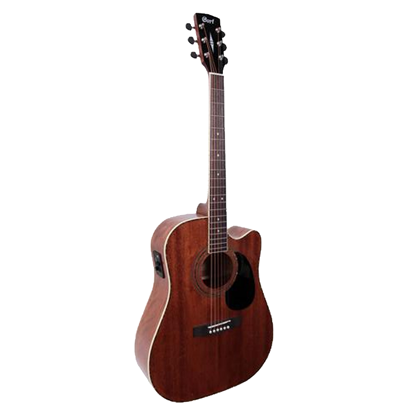 Cort AD880MCE Mahogany Dreadnought Acoustic Guitar with Cutaway and Pickup - Front
