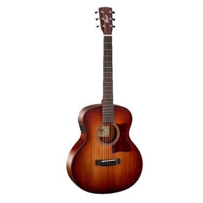 Cort Little CJ Blackwood Jumbo Acoustic Guitar with Gig Bag - Lightburst - Front