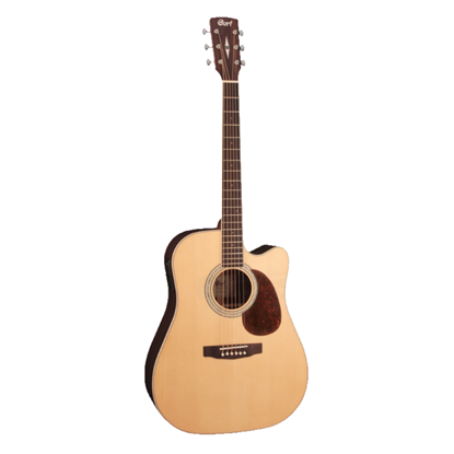 Cort MR720F Evorose Dreadnought Acoustic Guitar with Cutaway and Pickup - Natural Satin - Front