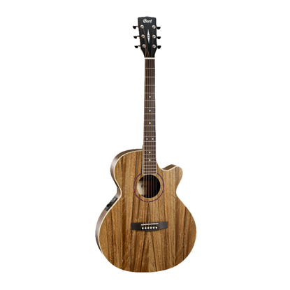 Cort SFX DAO Small Body Acoustic Guitar with Pickup and Cutaway - Natural - Front