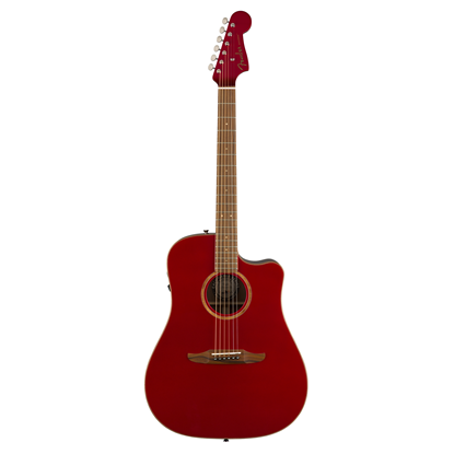 Fender California Redondo Classic Acoustic Guitar - Hot Rod Red Metallic - Front