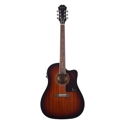 Epiphone AJ-220SCE Acoustic Guitar Mahogany Burst - Front
