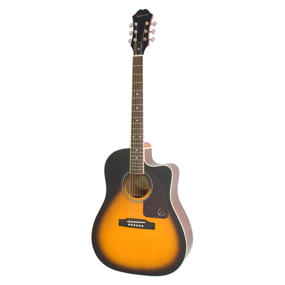 Epiphone AJ-220SCE Acoustic Guitar - Vintage Sunburst - Front