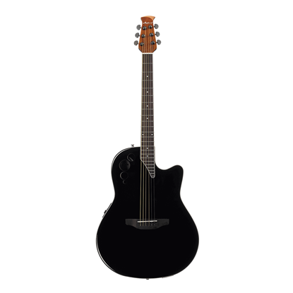 Ovation Applause Elite Acoustic Guitar - Black - Front