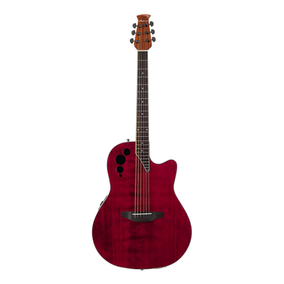 Ovation Applause Elite Acoustic Guitar Ruby Red - Front