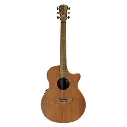 Cole Clark Angel 2 Acoustic Guitar - Left Handed - Redwood Blackwood (CCAN2ECLHRDBL)