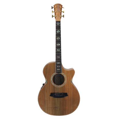 Cole Clark Angel 3 Series Acoustic Guitar with Pickup and Cutaway Blackwood/Blackwood - Front