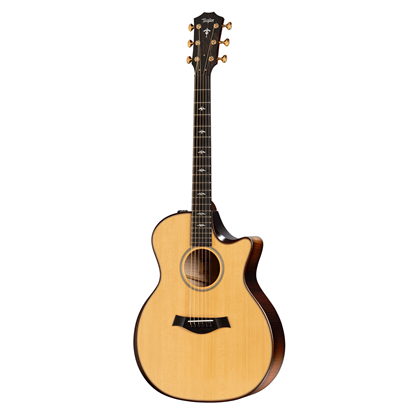 Taylor 614ce Builders Edition Acoustic Guitar with Pickup and Cutaway - Natural - Front View