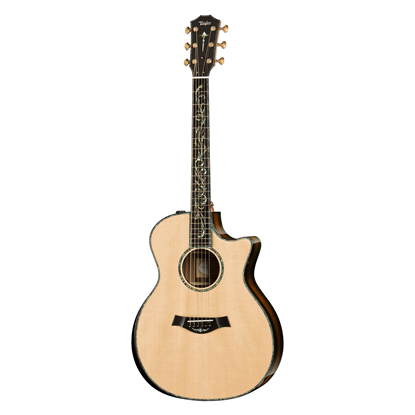 Taylor PS14ce Spruce/Macassar Ebony Presentation Series Acoustic Guitar with Pickup and Cutaway