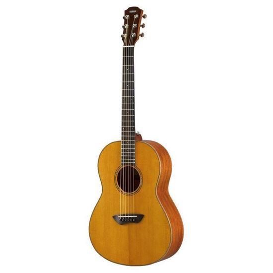 Yamaha CSF3M Folk Acoustic Electric Guitar Solid Mahogany Back and Sides - Vintage Natural