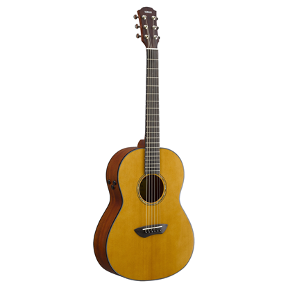 Yamaha CSF-TA TransAcoustic Parlor Size acoustic guitar - Vintage Natural Gloss - Front