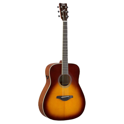 Yamaha FG-TA TransAcoustic Dreadnought Acoustic Guitar - Brown Sunburst - Front
