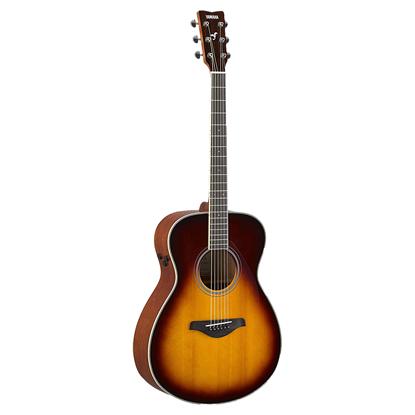 Yamaha FS-TA TransAcoustic Concert Acoustic Guitar - Brown Sunburst - Front