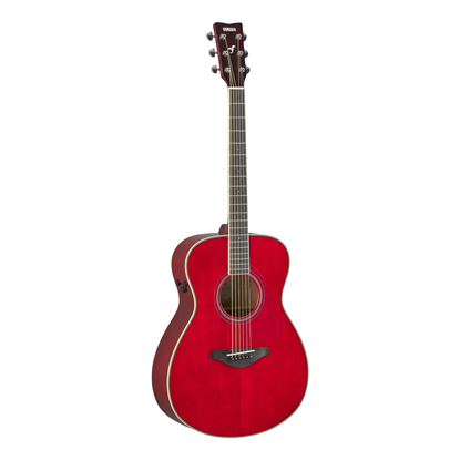 Yamaha FS-TA TransAcoustic Concert Acoustic Guitar - Ruby Red - Front