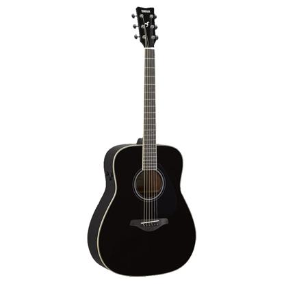Yamaha FG-TA TransAcoustic Dreadnought Acoustic Guitar - Black - Front