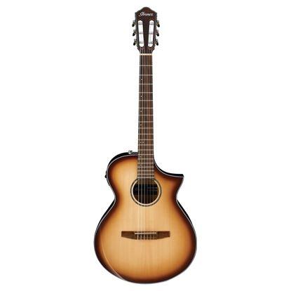Ibanez AEWC300N Guitar - Natural Browned Burst High Gloss