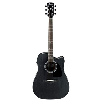 Ibanez AW84CE Acoustic Guitar - Weathered Black