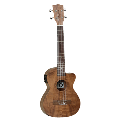 Tanglewood Tiare Tenor Ukulele with Pickup and Gig Bag - Natural Satin Figured Pacific Walnut - Front