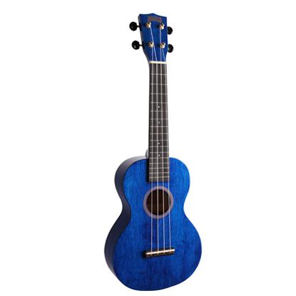 Mahalo Hano Series Concert Ukulele - Transparent Blue