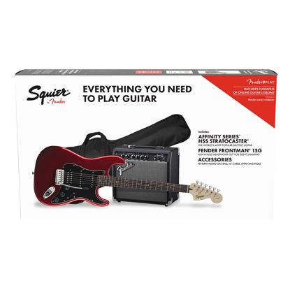 Squier Affinity Stratocaster HSS Electric Guitar Pack Candy Apple Red