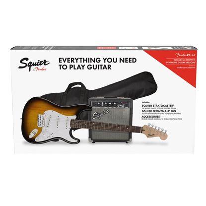 Squier Stratocaster 10G Electric Guitar Pack Brown Sunburst