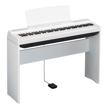 Yamaha P-121 Portable Digital Piano with Stand White (P121WH)