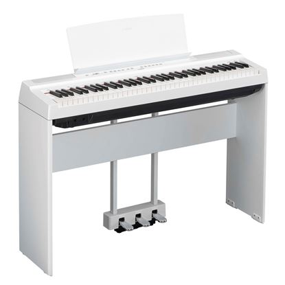Yamaha P-121 Portable Digital Piano with Stand and Pedal Unit White (P121WH)