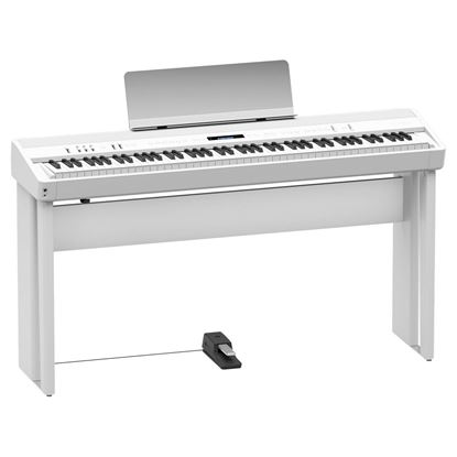 Roland FP-90 Digital Piano with Stand, Pedals and Seat - White (FP90)