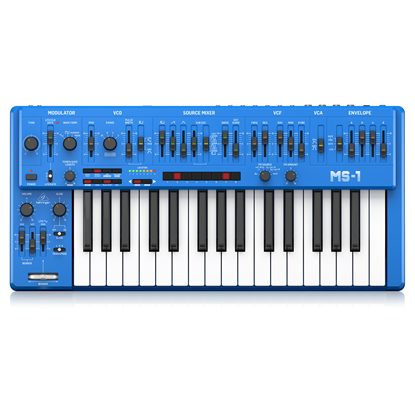 Behringer MS101 Analog Synth - Blue - Top