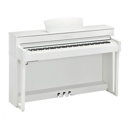 Yamaha CLP635WH Clavinova Digital Piano with Seat - White