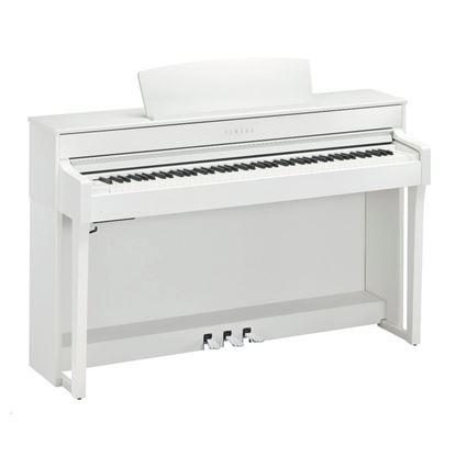 Yamaha CLP645WH Clavinova Digital Piano with Seat - White