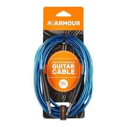 Armour GC10B Guitar 10 Foot in Transparent Blue