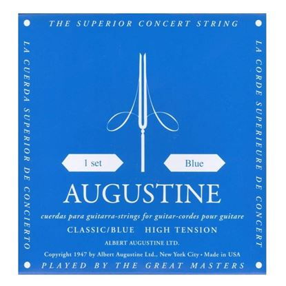 Augustine Blue Classical Guitar Strings - High Tension