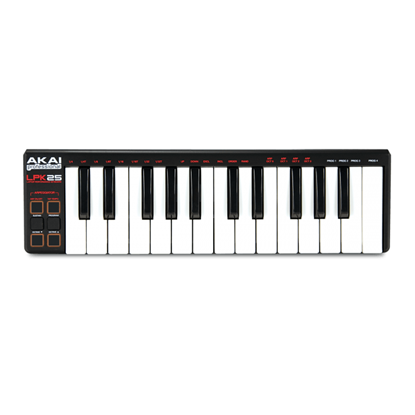 AKAI LPK25 - Ultra Portable USB Midi Controller with 25 keys