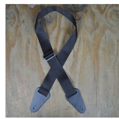 Colonial Leather Nylon Webbing With Heavy Duty Loops - Black