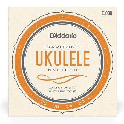 D''Addario EJ88B Nyltech Baritone Ukulele Strings - Front