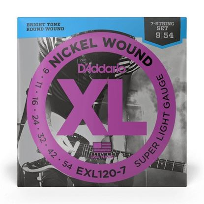 D''Addario EXL120-7 9-54 Super Light 7-String Electric Guitar Strings - Front