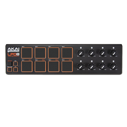 AKAI LPD8 - Ultra Portable Pad Controller with Drum Pads - Front