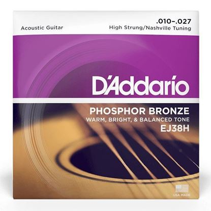 D'Addario EJ38H Acoustic Guitar Strings 10-27 Phosphor Bronze High String/Nashville Tuning - Front