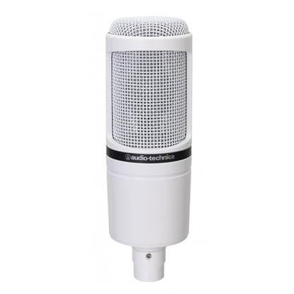 Audio Technica AT2020WH Large Diaphragm Condenser Microphone White
