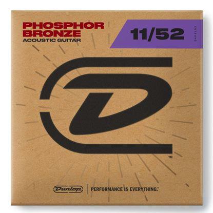 Dunlop DAP11 Phosphor Bronze Acoustic Guitar Strings - Medium Light 11-52 - Front