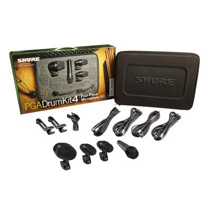 Shure PGADRUMKIT4 Drum Microphone Kit (4 Mics w Case)