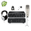 Behringer UMC202HD Studio Recording Bundle (with C1 Mic, Mic Stand, Pop Filter & XLR Cable)