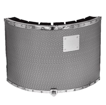 AVE Vox-Barrier MD Vocal Booth with Gooseneck - Medium - Front