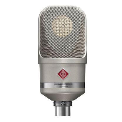 Neumann TLM107 Condenser Microphone Front View - Nickel