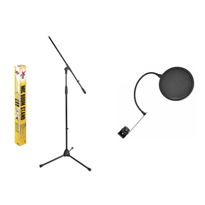 XTREME MA415B Microphone Boom Stand & CPK GM88 Pop Filter Pack