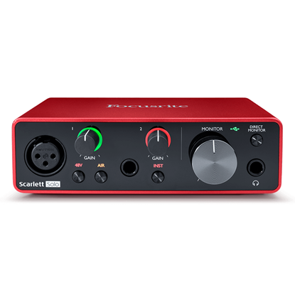 Focusrite Scarlett Solo USB Audio Interface Gen 3